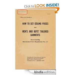 Digest for Retailers How to set Ceiling Prices for Mens and Boys