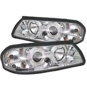Impala 00 01 02 03 04 05 Projector Halo Headlights with LED   Chrome