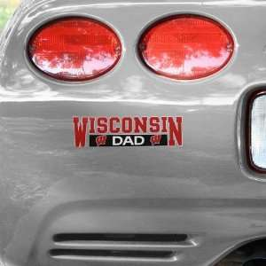NCAA Wisconsin Badgers Dad Car Decal