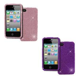 Bling Hard Snap on Case Covers (Dark Purple, Pink) Electronics