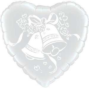 Wedding Balloons   18 Wedding Bells Qualatex Toys & Games