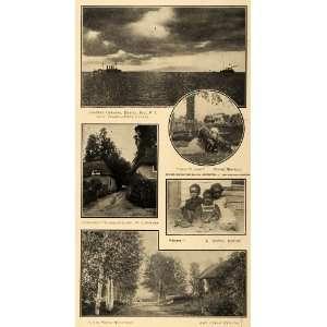 1913 Print Japanese Cruisers Cockington Village England