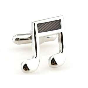 Silver Musical Note Cufflinks Cuff Links Jewelry