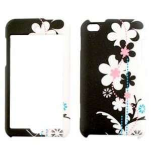 Apple iPod Touch 4 Black and White Flowers Hard Case,Cover