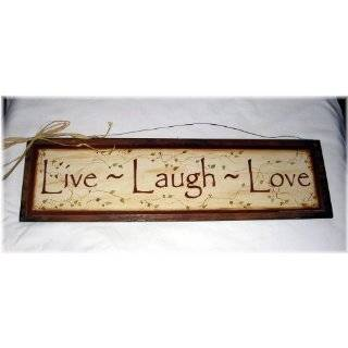 Decorative Wood Sign Plaque Wall Decor with Quote Live