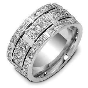 Diamond Platinum Comfort Fit Wedding Band Ring   10.25 Dora Rings