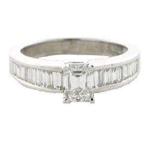 14k Solid Emerald Cut Diamond Ring (1.18 cts.tw.) Evyatar