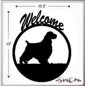 ENGLISH SPRINGER SPANIEL Black Metal Welcome Sign ~NEW