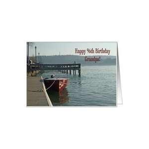 Fishing Boat Grandpa 96th Birthday Card Card