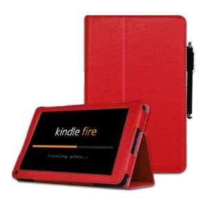 Folio Case Cover with Stylus Pen for  Kindle Fire Tablet