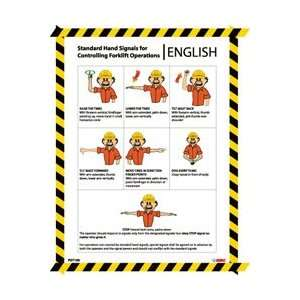 PST109   Poster, Forklift Hand Signals, 24 X 18