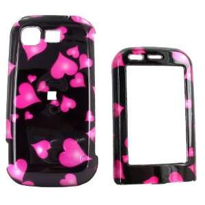 For LG Tritan Hard Case Cover Gems Pink Hearts Black Electronics