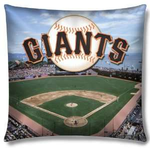 San Francisco Giants MLB Photo Real Toss Pillow (18x18