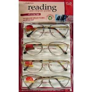 ASSORTED MONETS COLLECTION READING AND COMPUTER GLASSES +1.25 WEAKEST
