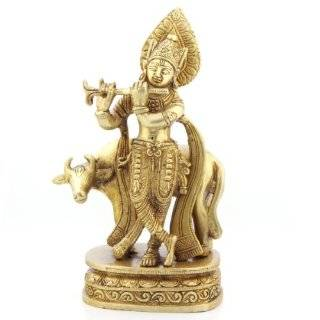 Sculpture Gallery Brass Lord Krishna Statue:  Home