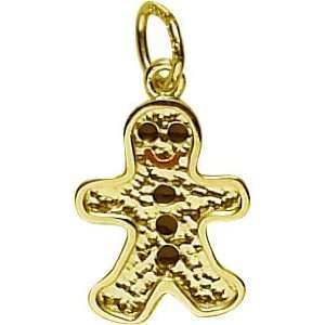 Rembrandt Charms Gingerbread Man Charm, 10K Yellow Gold Jewelry