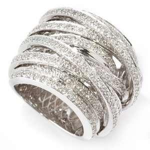 White, Rose, or Yellow Gold 1.50ct Diamond Crisscross Ring Jewelry