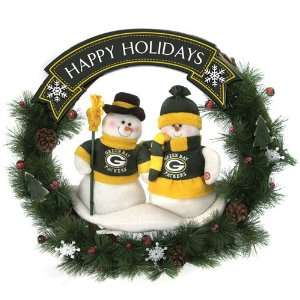 20 NFL Green Bay Packers Snowman Couple Christmas Berries