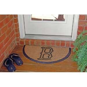 MLB Boston Red Sox Logo Half Moon Doormat 29 Patio, Lawn
