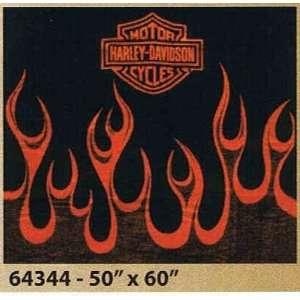 Harley Davidson ® Flames Blanket 50 x 60