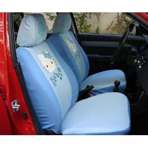 6pcs Hello Kitty Universal Car Seat Cover Blue   With Free Gift of Non