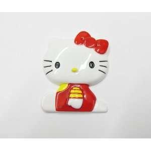 1pc Red Sitting Kitty Cat Jumbo Size Flat Back Resin Cabochons