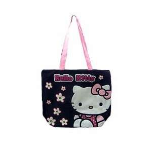 Hello Kitty  Flower Tote Bag (Black) Toys & Games