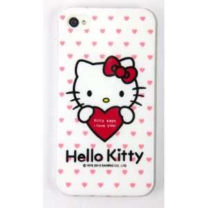 Smile Case Hello Kitty Premium Hot Red Silicone Full Cover Case