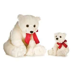 Aurora Plush 28 Holiday Polar Bear  Toys & Games