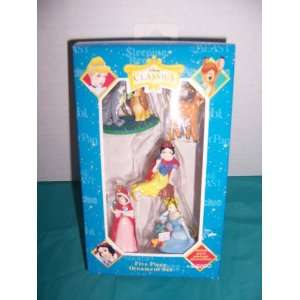 Disney Classics 5 Piece Christmas Ornament Set  BAMBI, CINDERELLA