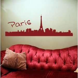 France City Skyline Decal Sticker Eiffel Tower Sexy Graphic Art Big