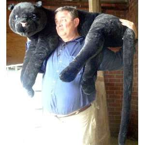 Giant Stuffed Black Panther 46 Realistic Big Plush Jungle Stuffed
