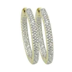 Gold 1/4 ct. Pave Set Diamond Huggie Earrings Katarina Jewelry