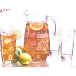 Ice Tea Pitcher and Glass Set 7pc by Luminarc  Kitchen