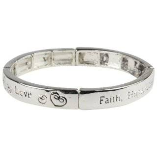 Inspirational Faith, Hope, Love Magnetic Hematite Healing Stretch