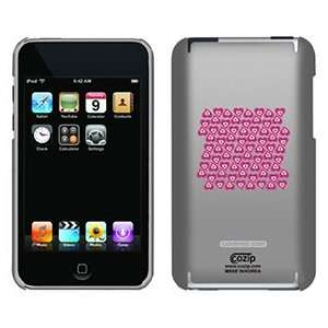 Crazy Hearts Pink on iPod Touch 2G 3G CoZip Case