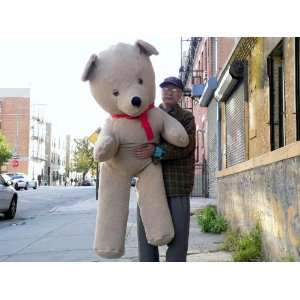 GIANT 68 TEDDY BEAR HUGE PLUSH STUFFED SNUGGLE ANIMAL * COLOR BEIGE