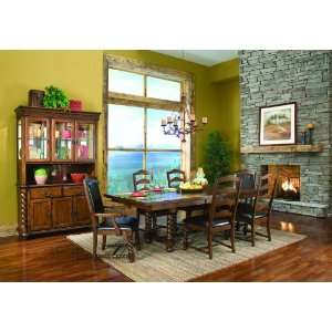 Classic 7 Pc Dining Table Set Ladder Back Style Chairs
