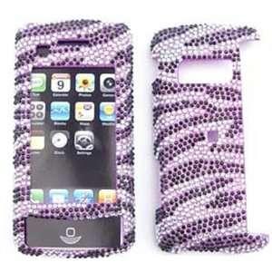 LG ENV Touch VX11000   Full Diamond Crystal, Purple Zebra  Hard Case
