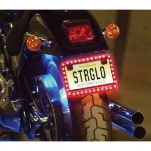 Streetglow MCLLPRD Red Motorcycle LED License Plate Frame Automotive