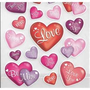 Love Hearts Scrapbook Stickers (STK157) Arts, Crafts & Sewing