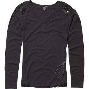 Fox Racing Womens Star Long Sleeve Shirt   X Large/Black