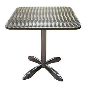 Tables & Seating AL3030 27 1/2 Square Outdoor Aluminum Table Home