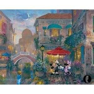 Mickey and Minnie Mouse Black Tie Affair Italy Disney Fine