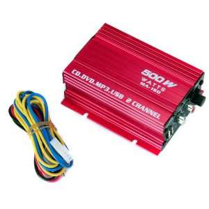 Mini Hi Fi Stereo Audio Amplifier for Car Motorcycle   Red