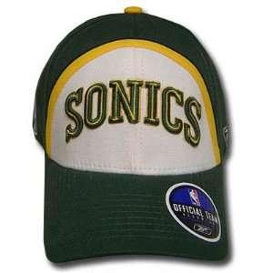 NBA OFFICIAL REEBOK SEATTLE SONICS GREEN CAP HAT ADJ