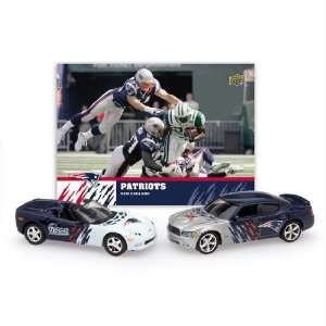 Chevrolet Corvette with Team Card   New England Patriots Diecast NFL