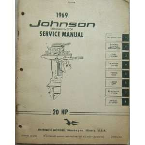 Johnson Outboard Motor Service Manual 20 HP: Johnson Motors: Books