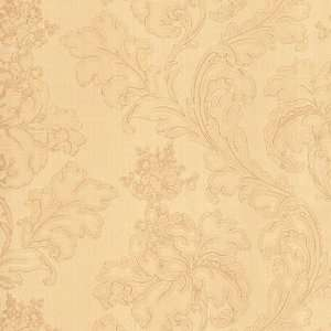 9057 27 Inch by 396 Inch Large Textured Floral Trail Wallpaper, Peach