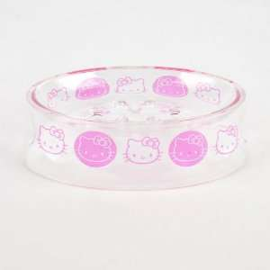 Hello Kitty Plastic Shower Soap Dish Holder Pink